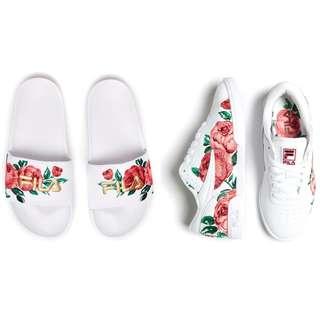 🚚 Fila Floral Embroidery slides & sneaker