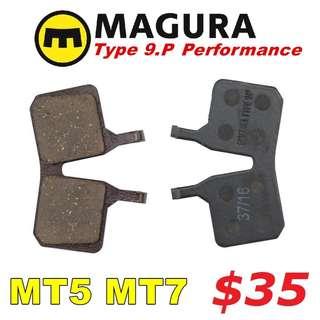 Magura Type 9.P Performance Disc Brake Pads for MT5/MT7 --------  (Magura MT2 MT4 MT5 MT5e MT6 MT7 MT8 Trail XTR M9020 XT M8020 M8000 M785 SLX M7000 M675 M315 ) DYU