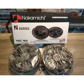 "NAKAMICHI N-SERIES  6""2- WAY COAXIAL SPEAKER, RMS 20W"