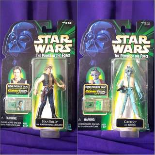 STAR WARS THE POWER OF THE FORCE (POTF) : HAN SOLO & GREEDO
