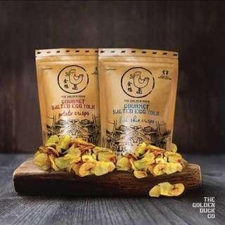 🚚 新加坡熱銷零食-金鴨鹹蛋薯片/鹹蛋魚皮