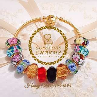 (PROMOTION) Murano Glass 916 Gold Charms