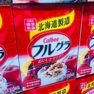 包郵 台灣直送 卡樂B富果樂水果早餐麥片 500g2入 共1kg