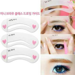 Eyebrow Stencil Card Beauty Tools Template