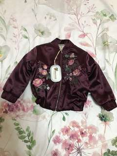 BNWT Daisy & Moose embroidered jacket