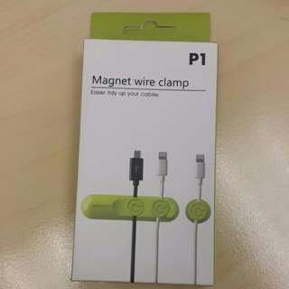 數據線磁吸 Magnet Wire Clamp 綠色 Green Easy Tidy Up Your Cables