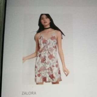Zalora lace up front cami dress