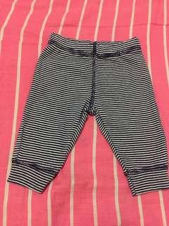 0-3mos. Blue stripes leggings