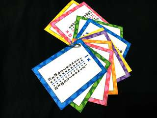 DIY Time Tables Cards (1x to 12X)