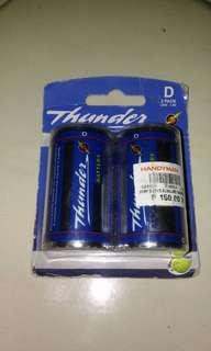 Thunder Alkaline Battery D 1.5v 2pack #winllaollao