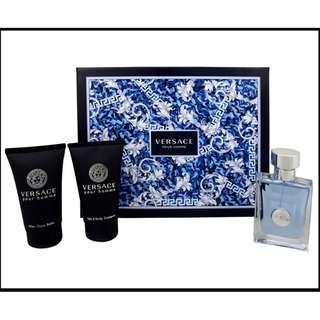 Versace Pour Homme Fragrance Cologne 3 Piece Gift Set