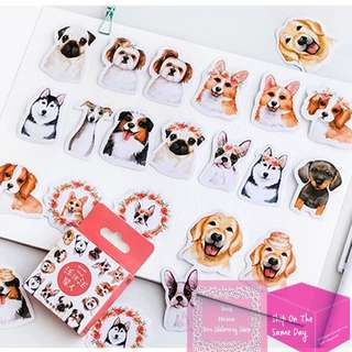 Set of 45pcs Mo.card Cute Star Dogs Sticker Pack