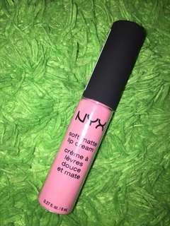 NYX soft matte lip cream shade 06 istanbul
