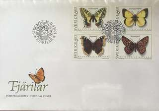 1993 First Day Cover - Stockholm Butterfly Series