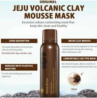 Innisfree jeju volcanic clay mousse mask original 100ml