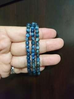 全新藍晶石繞3圈手珠