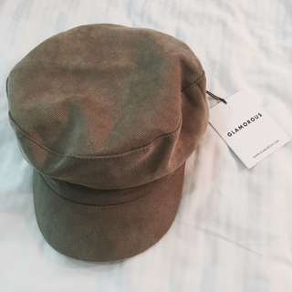 BNWT asos glamorous army green baker boy hat cap authentic