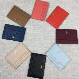 Tory Burch Leather Card Holder Different Shades