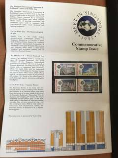 1995 Singapore Commemorative Stamp Issue - Meet in Singapore