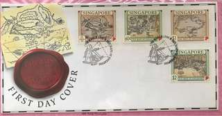 1996 First Day Cover - Old Maps of Singapore