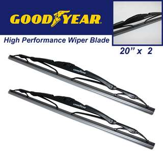 "Goodyear High Performance Wiper Blade 20""/20"" Set"