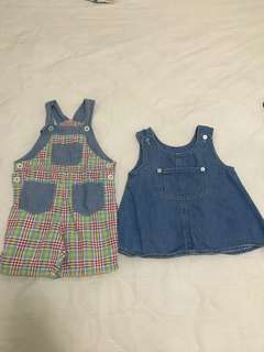 Baby Guess Overall & Miki Overall