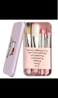 PO- free mail- hello kitty 7pcs Make Up Brush full Set makeup contour