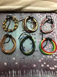 Brand New Assorted Leather Cord Bracelets