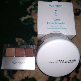 Wardah eyeshadow & acne powder