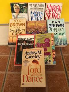 Paperback Novels (different authors)