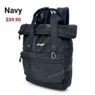 * Instock Navy Authentic Anello URBAN STREET Backpack