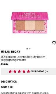 Urban Decay / Kristen Leanne Highlight palette