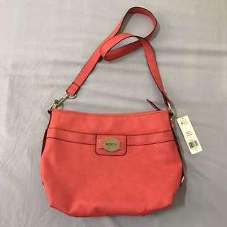 Bright Peach Sling Bag