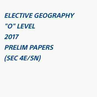 E GEOG 2017 EXAM PAPERS