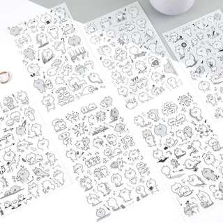 (Instock) Monochrome Usamaru Stickers