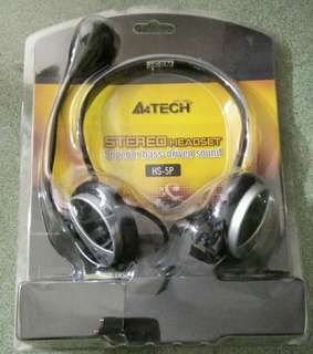 A4 Tech Stereo Headset with Vibox Speaker (FREE Headset Hook)