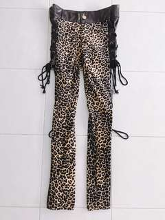 Leopard leather with leopard pants