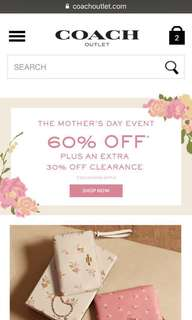 Coach pre-order up to 40%off (close on 7/5 10:00 a.m)
