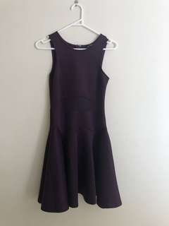 Purple mesh dress