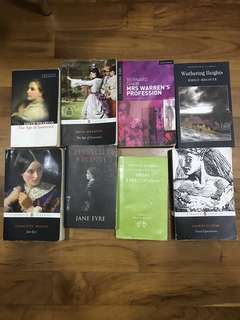 A level H1 & H2 English Literature Books (The age of innocence, Great expectations, Jane Eyre, Mrs Warren's Profession, Wuthering Heights)