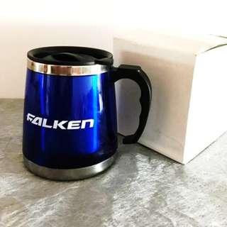 BNIB Falken Insulated Stainless Steel Coffee Mug Desk Mug