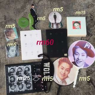 SALE EXO ALBUM & GOODS CLEARING THE COLLECTIONS