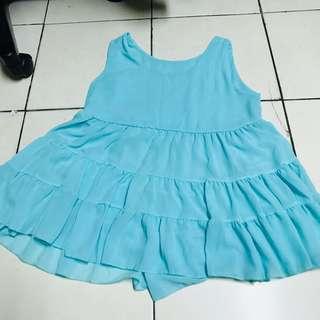 🚚 粉藍 蛋糕裙背心 澎澎背心 可愛 顯白 #女裝半價