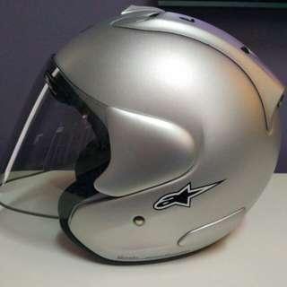 helmet arai rem3 silver flat