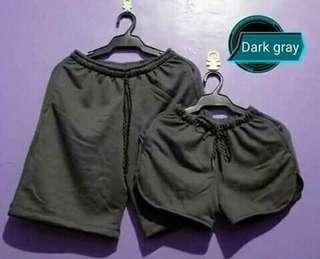 Dark gray couple shorts