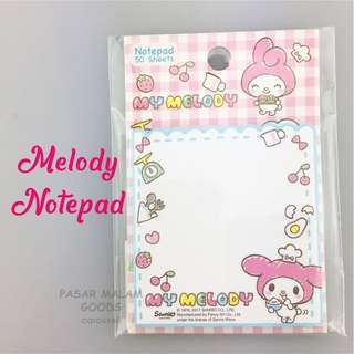 Melody Notepad Message Memo Pad Small Writing Write Note Paper