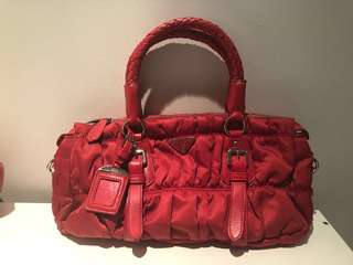 Prada red bag