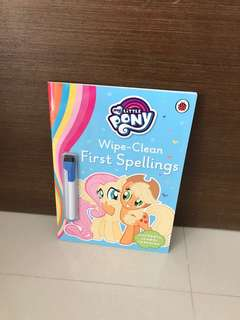 Free Postage-BN My Little Pony Wipe Clean First Spellings