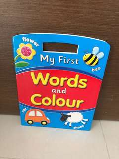 Free Postage-BN My First Words and Colour Book (Colouring Book)