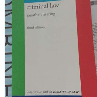Criminal law jonathan herring